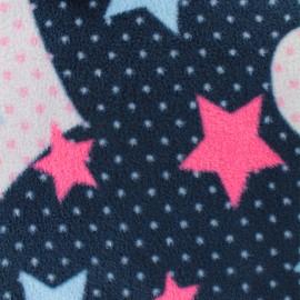 Tissu Polaire Coeur Pop - bleu marine x 10cm