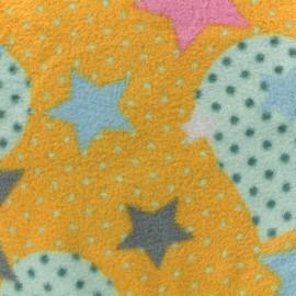 Tissu Polaire Coeur Pop - Jaune x 10cm