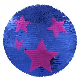 Ecusson à Coudre Etoile Réversible - Bleu