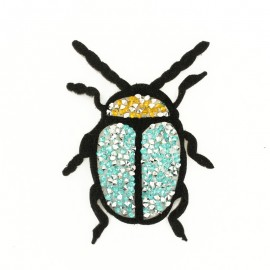 Thermocollant Scarabée Strass - Turquoise