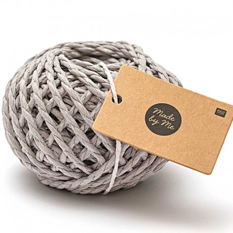 3.5 mm Paper String - Grey x 20m