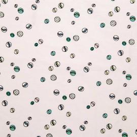 Tissu Jersey Rico Design Billes - rose poudré x 10cm