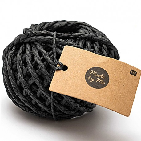3.5 mm Paper String - Black x 20m
