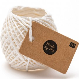 1 mm Paper String - White x 20m