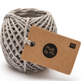 1 mm Paper String - Grey x 20m