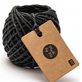1 mm Paper String - Black x 20m