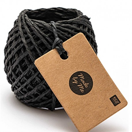1 mm Paper String - Black x 20m