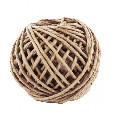 Ficelle de Jute Enduite 3 mm - Naturel x 25m