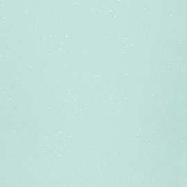 Tissu jersey Rico Design confetti Hot Foil - menthe/argent x 10cm