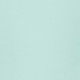 Cotton Jersey fabric  - mint Hot Foil confetti x 10cm