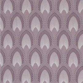Tissu coton enduit Chrysler - Gris de rose x 10cm