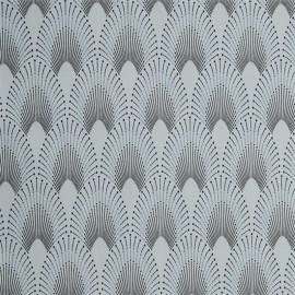 Tissu coton enduit Chrysler - Bleu gris x 10CM