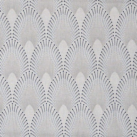 Oilcloth fabric -Pearl Grey Chrysler x 10cm