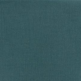 Tissu toile de coton natté réversible - vert paon x 10cm