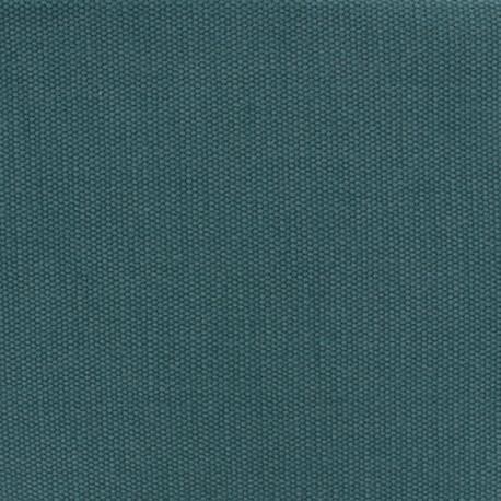 Tissu coton natté réversible - vert paon x 10cm