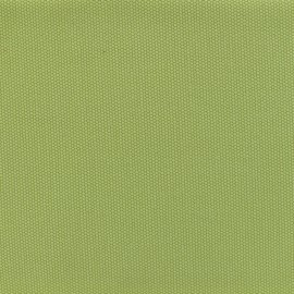 Reversible braided cotton fabric (280 cm) - Lime green x 10cm