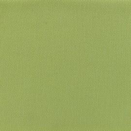 Tissu toile de coton natté réversible - Anis x 10cm