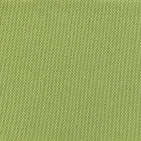 Tissu coton natté réversible - Anis x 10cm