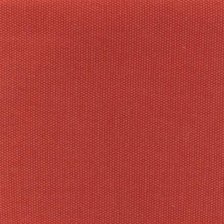 Tissu coton natté réversible - Curcuma x 10cm