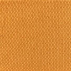 Tissu toile de coton natté réversible - Safran x 10cm