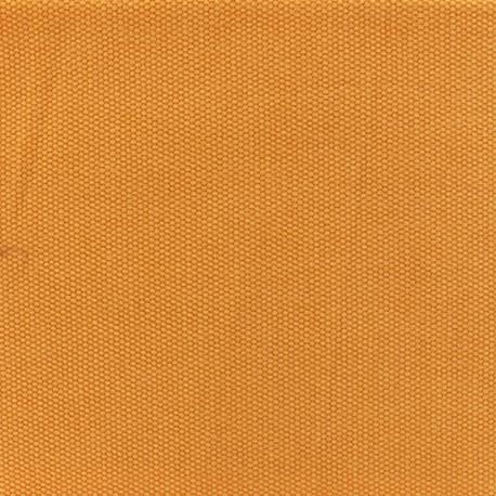 Tissu coton natté réversible - Safran x 10cm
