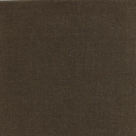 Tissu toile de coton natté réversible - Chocolat x 10cm