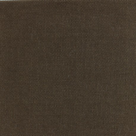 Reversible braided cotton fabric (280 cm) - Chocolate x 10cm