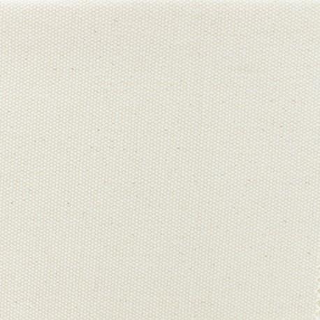 Tissu coton natté réversible - naturel x 10cm