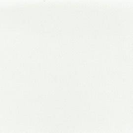 Tissu toile de coton natté réversible - blanc cassé x 10cm
