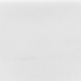 Tissu toile de coton natté réversible - Blanc pur x 10cm