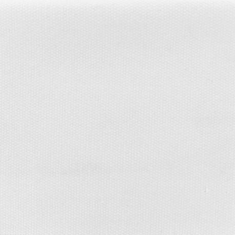 Reversible braided cotton fabric (280 cm) - Pure White x 10cm