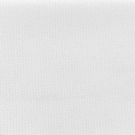 Tissu coton natté réversible - Blanc pur x 10cm