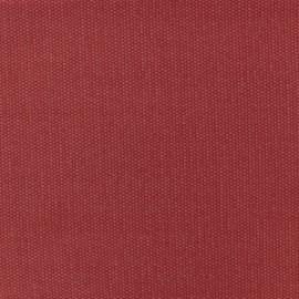 Tissu toile de coton natté réversible - Rouge Vermillon x 10cm