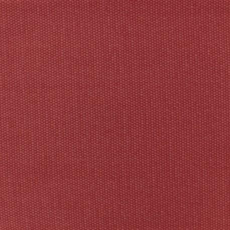 Tissu coton natté réversible - Rouge Vermillon x 10cm