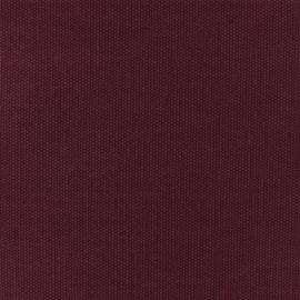 Tissu toile de coton natté réversible - Pourpre x 10cm