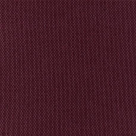 Tissu coton natté réversible - Pourpre x 10cm