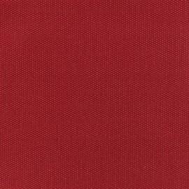 Tissu toile de coton natté réversible - Rouge passion x 10cm