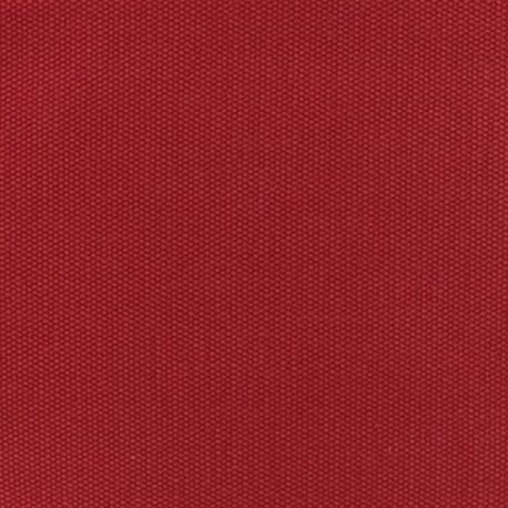 Tissu coton natté réversible - Rouge passion x 10cm