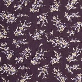 Oilcloth fabric - Eggplant Wisteria x 10cm