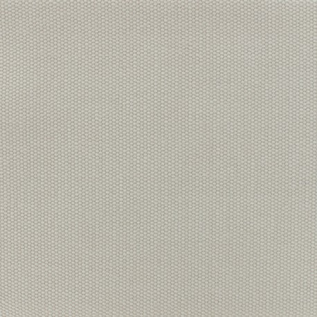 Reversible braided cotton fabric (280 cm) - Pearl grey x 10cm
