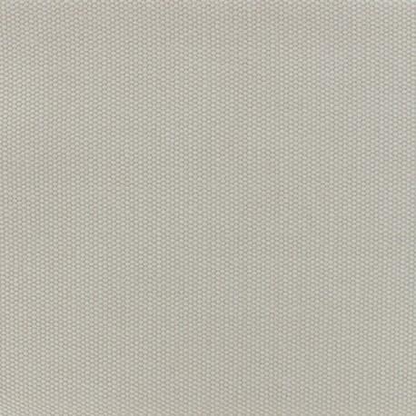 Toile de coton natté réversible - gris perle x 10cm