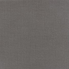Tissu toile de coton natté réversible - gris x 10cm