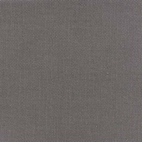 Reversible braided cotton fabric (280 cm) - Grey x 10cm