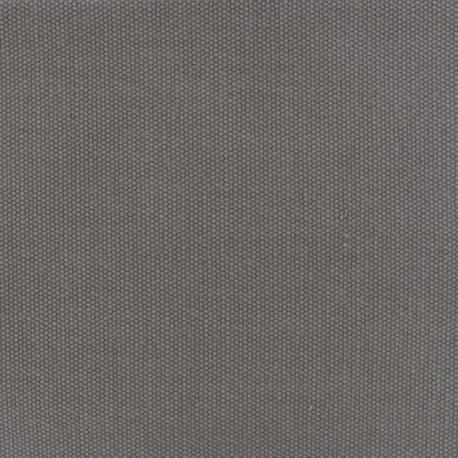 Toile de coton natté réversible - gris x 10cm