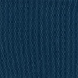 Tissu toile de coton natté réversible - bleu x 10cm