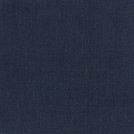 Reversible braided cotton fabric (280 cm) - Navy x 10cm