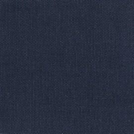 Tissu toile de coton natté réversible - marine x 10cm