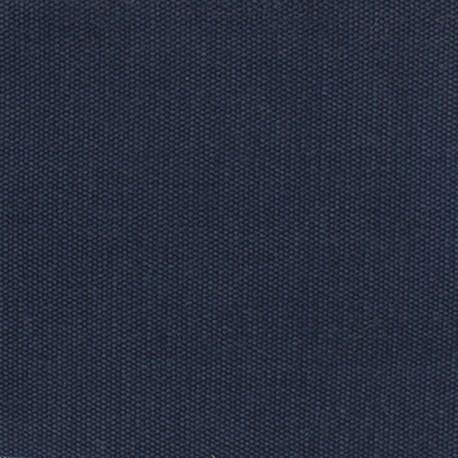 Tissu coton natté réversible - marine x 10cm