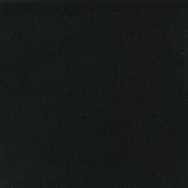 Tissu toile de coton natté réversible - noir x 10cm