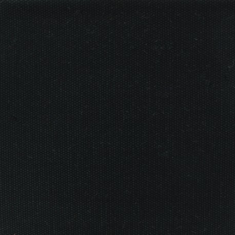 Tissu coton natté réversible - noir x 10cm